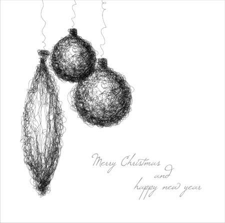 decoración de la Navidad - Dibujo de línea continua sencilla