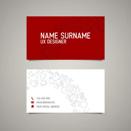 webdesigner: Modern simple business card template for ux designer or web designer