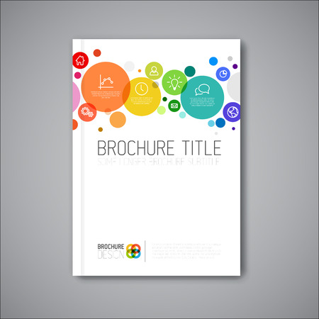 Modern Vector abstract brochure / book / flyer design template Ilustração