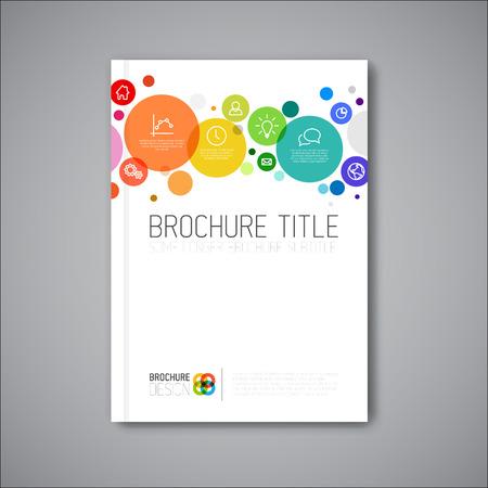 Modern Vector abstract brochure / book / flyer design template Illustration