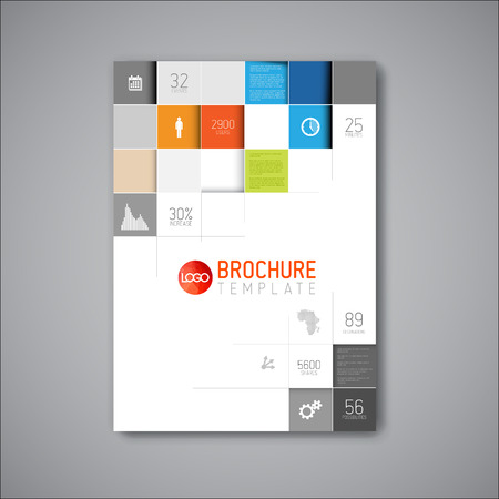 Modern Vector abstract brochure  book  flyer design template Vector