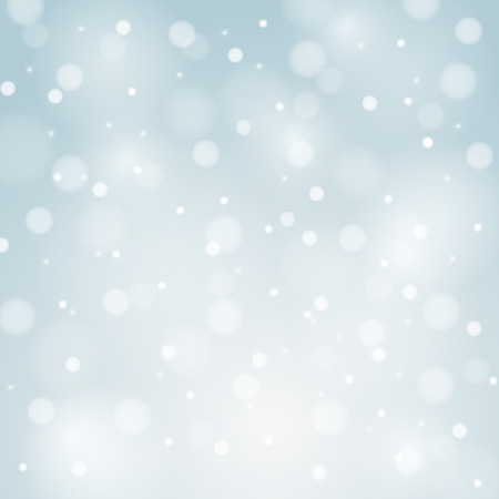 snoflake: Blue Vector Christmas background with white snowflakes and place for your text Illustration
