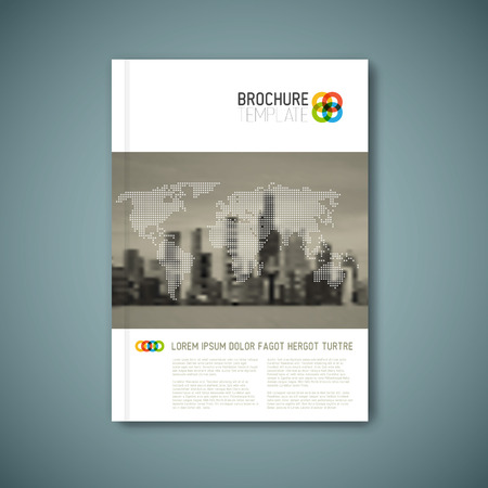 Modern abstract brochure, report or flyer design template
