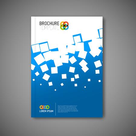 reporte: Abstracto moderno folleto, informe o folleto plantilla de dise�o Vectores