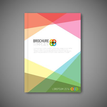 folleto: Folleto  libro  plantilla abstracto moderno tarjeta publicitaria