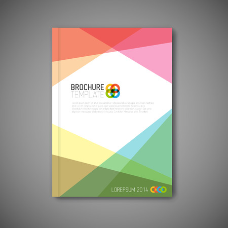 Moderne abstracte brochure  boek  flyer design template