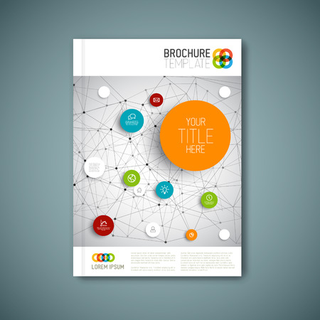 magazine page: Modern abstract brochure, report or flyer design template