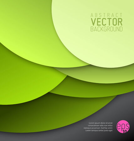 tip style design: Vector abstract background made from big green circles