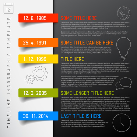 Vector Infographic timeline report template with icons Ilustração