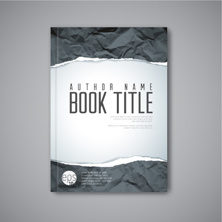 teared: Modern Vector abstract book cover template with teared paper