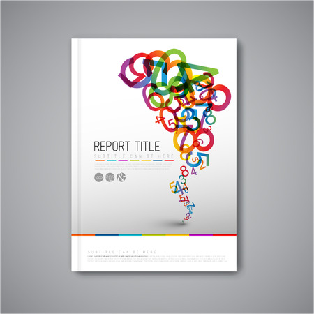 Modern Vector abstract brochure / book / flyer design template with numbers Vectores