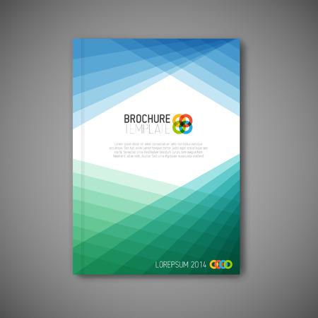 Modern Vector abstract brochure / book / flyer design template Vettoriali
