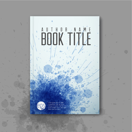 Modern Vector abstractbook cover template with ink blots