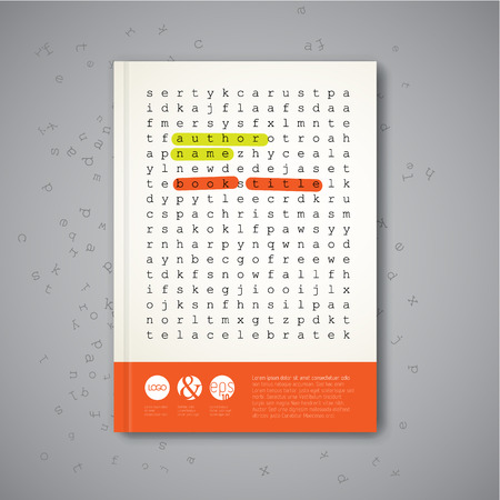 website words: Modern Vector abstract brochure, report or flyer design template with puzzle pieces Illustration