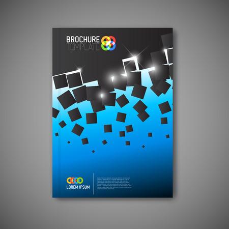 現代ベクトル抽象的なパンフレット、レポートやチラシのデザイン テンプレート