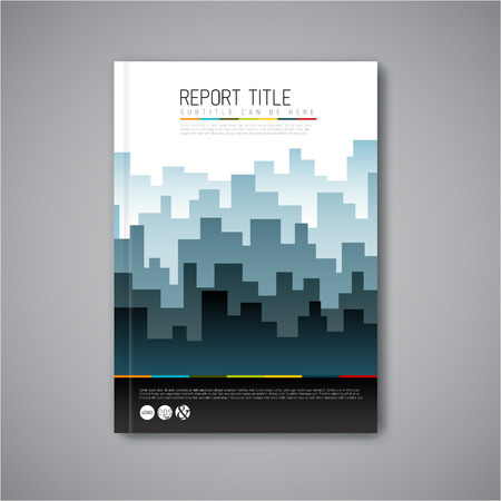 horizont: Modern Vector abstract brochure  book  flyer design template