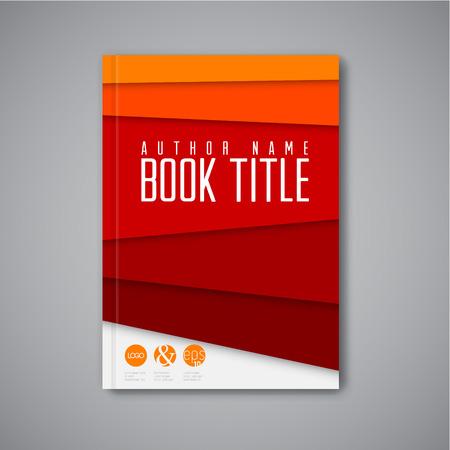 現代ベクトル抽象パンフレット本チラシ デザイン テンプレート