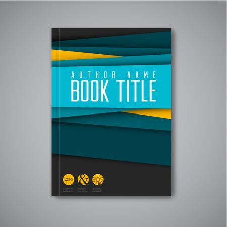 現代ベクトル抽象パンフレット本チラシのデザイン テンプレート