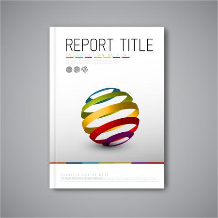 現代ベクトル抽象パンフレット本チラシ デザイン抽象図形とテンプレート