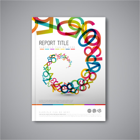 Modern Vector abstract brochure  book  flyer design template with numbers Vector
