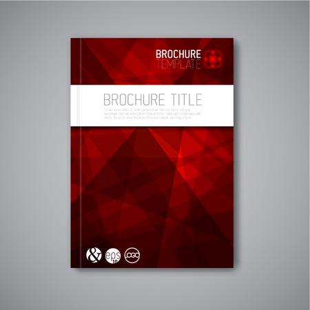 brochure cover: Modern Vector abstract brochure  book  flyer design template
