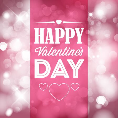 Vector Happy Valentines card with love text Vector