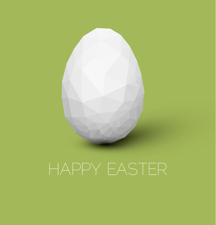Simple vector Happy Easter card with polygonal egg