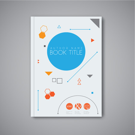 Modern Vector abstract brochure  book  flyer design template with geometric shapes