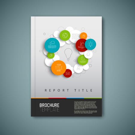 Moderno Vector abstracto folleto, informe o folleto plantilla de diseño Foto de archivo - 35611227