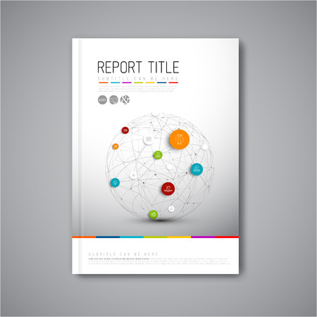 Modern Vector abstract brochure, report or flyer design template Zdjęcie Seryjne - 35611262