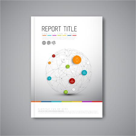 sjabloon: Moderne Vector abstracte brochure, rapport of flyer design template Stock Illustratie