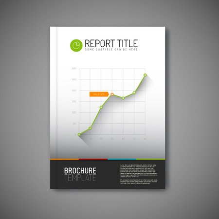 visualisation: Modern abstract brochure Illustration