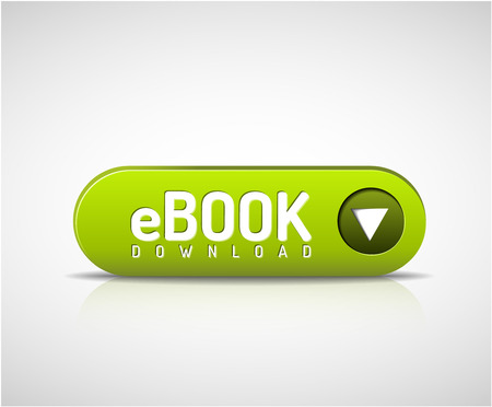 3d green e-book download button Illustration
