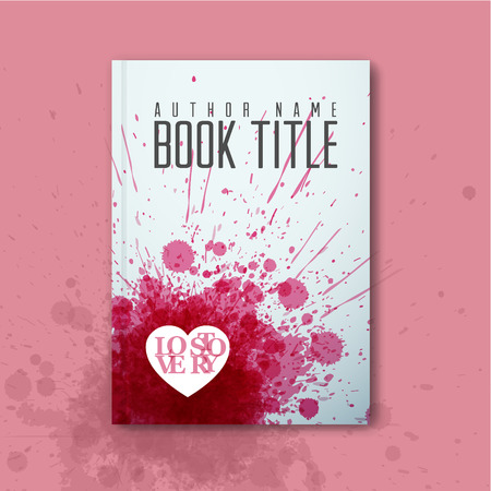 ballad: Modern Vector abstract book cover template for love story
