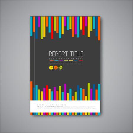 Moderne Vector abstract brochure / livre / flyer modèle de conception - version foncée