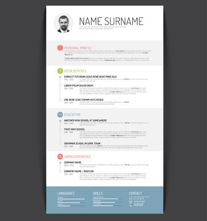 profil: Wektor szablon cv minimalistyczny  CV
