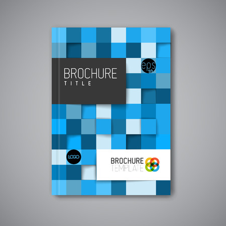book cover: Modern Vector abstract brochure  book  flyer design template