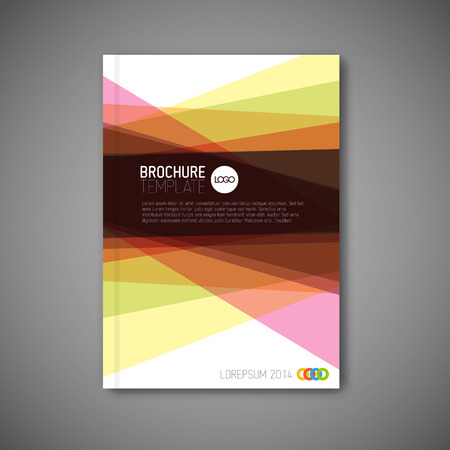 folleto: Moderno Vector abstracto folleto  libro  diseño de la plantilla volante