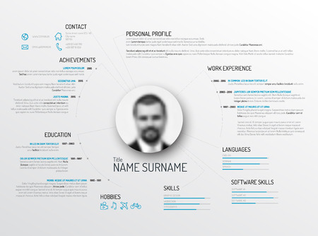 dash: Vector original minimalist cv  resume template - creative version