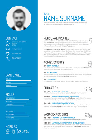 profile: Vector minimalist cv  resume template