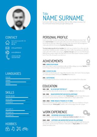 plantilla: Vector minimalista plantilla cv  resume