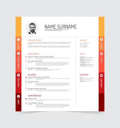 user profile: minimalist cv  resume template
