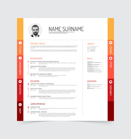 minimalist cv  resume template