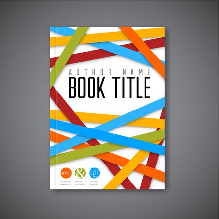 モダンな抽象パンフレット本チラシ デザイン テンプレート - ライト バージョン
