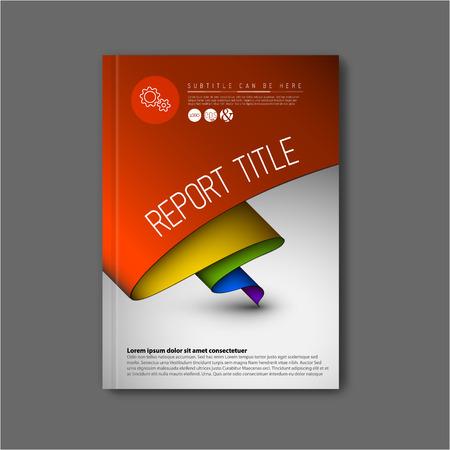 現代ベクトル抽象パンフレット本チラシ デザイン テンプレートの虹色で  イラスト・ベクター素材