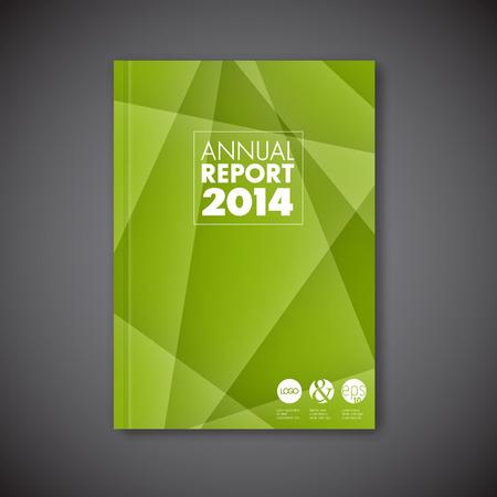 Modern Vector green abstract brochure / book / flyer design template Vettoriali