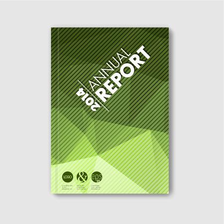 portadas de libros: Folleto  libro  folleto abstracto moderno del vector plantilla de diseño - versión polígono verde Vectores