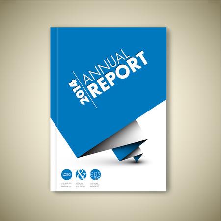 Nowoczesne Vector streszczenie szablon biały broszura / książka / ulotki wzór z niebieskim papierze