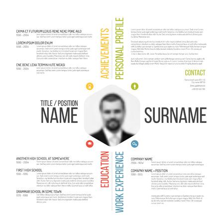 Vector minimalist cv / resume template design Vettoriali