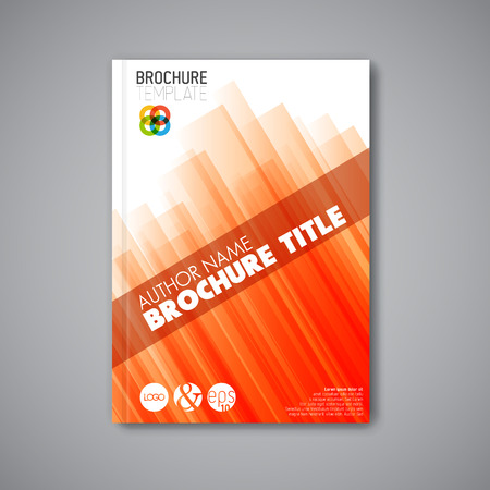 Modern Vector abstract brochure / book / flyer design template - orange version  イラスト・ベクター素材
